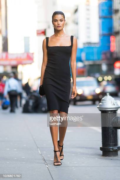 Daniela Braga is seen in Tribeca on September 4 2018 in New York City