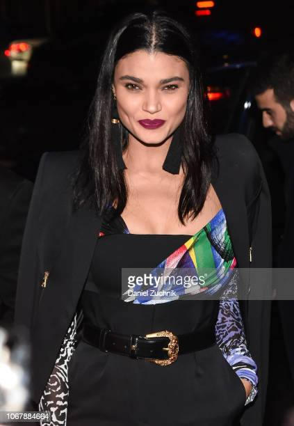 Daniela Braga is seen outside the Versace PreFall 2019 Collection on December 2 2018 in New York City