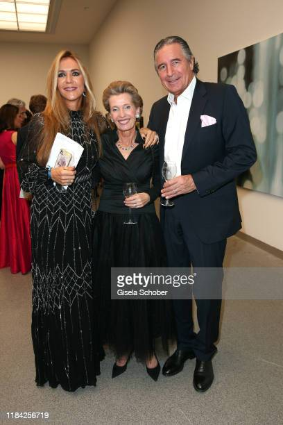 Daniela Brunner Katharina von Perfall and Urs Brunner during the PIN Party at Pinakothek der Moderne on November 23 2019 in Munich Germany