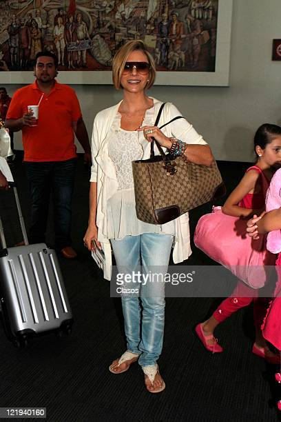 Daniela Castro at exit in the terminal 2 of the international airport Benito Juarez on july 29 2011 Mexico City in Mexico City Mexico