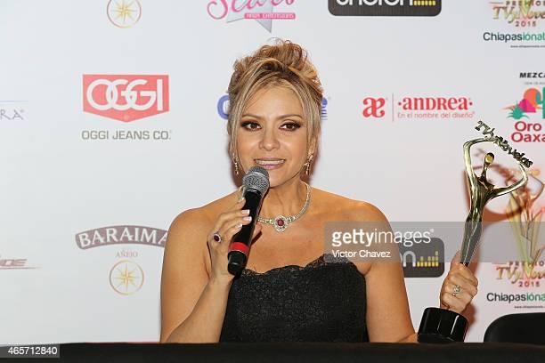 Daniela Castro attends Premios TV y Novelas 2015 at Televisa San Angel on March 9 2015 in Mexico City Mexico