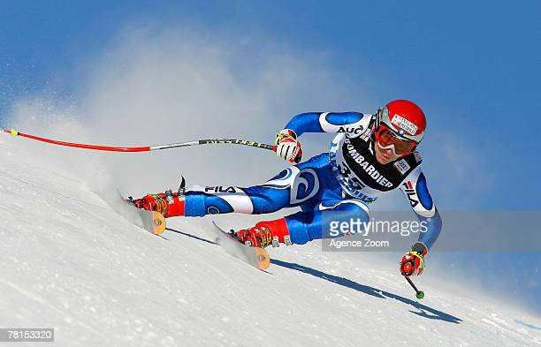 Daniela Ceccarelli of Italy skiis during training for this weekend's seasonopening women's World Cup downhill race November 29 2007 in Lake Louise...