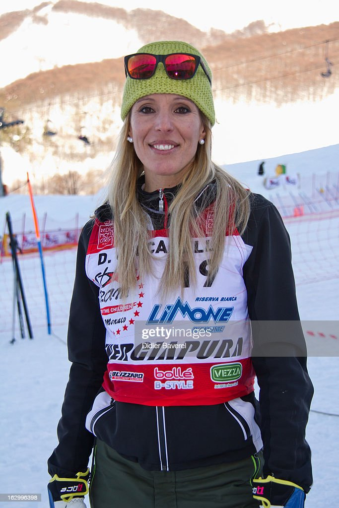 Daniela Ceccarelli Olympic ski Champion attends the Charity Ski Race To Collect Donations For 'Star Team For The Children MC' on March 2, 2013 in Limone, Italy.