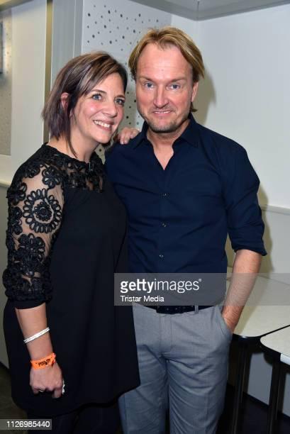 Daniela Danni Buechner and Markus Krampe during the 'Goodbye Jens Party Stars Halten Zusammen' benefit at Grugahalle on February 23 2019 in Essen...