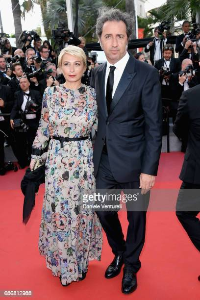 Daniela D'Antonio and Paolo Sorrentino attend the 'The Killing Of A Sacred Deer' screening during the 70th annual Cannes Film Festival at Palais des...