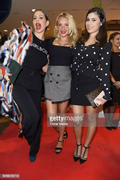 Daniela Dany Michalski Evelyn Burdecki and Tanja Tischewitsch during the VIP Late Night Shopping Party on March 3 2018 in Hamburg Germany