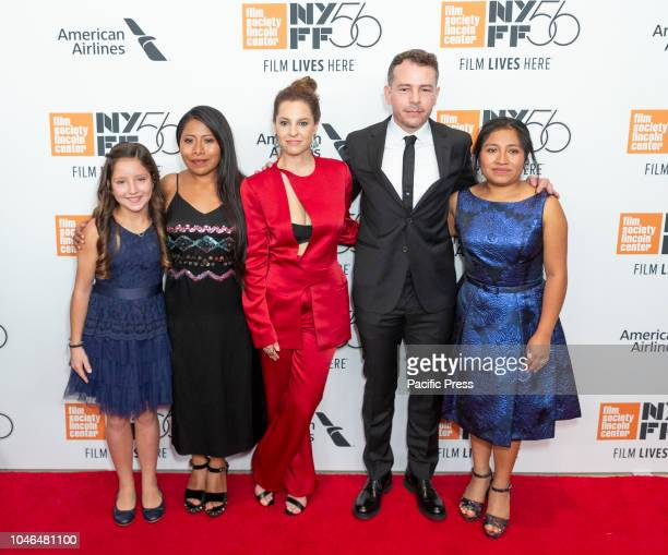 Daniela Demesa Yalitza Aparacio Marina De Tavira Fernando Gradiaga Nancy Garcia attend premiere of ROMA during the 56th New York Film Festival at...