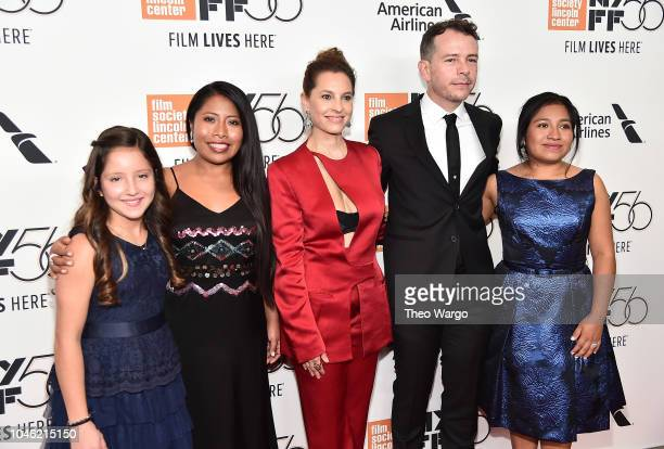 Daniela Demesa Yalitza Aparicio Marina de Tavira Fernando Grediaga and Nancy Garcia attend the ROMA premiere during the 56th New York Film Festival...