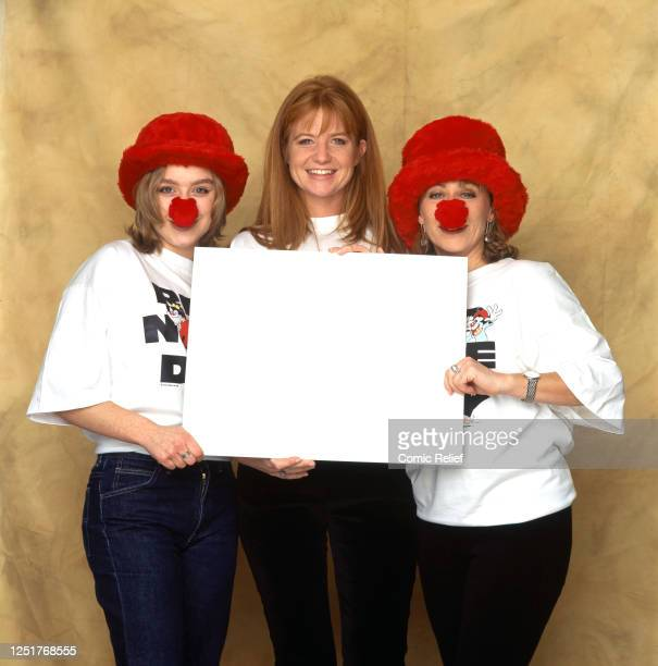 Daniela DenbyAshe Patsy Palmer and Lindsay Coulson pose for a portrait session for Comic Relief's Red Nose Day telethon held on March 14 1997