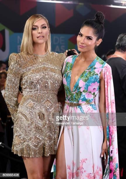 Daniela Di Giacomo and Alejandra Espinoza attend the Univision's Premios Juventud 2017 Celebrates The Hottest Musical Artists And Young Latinos...