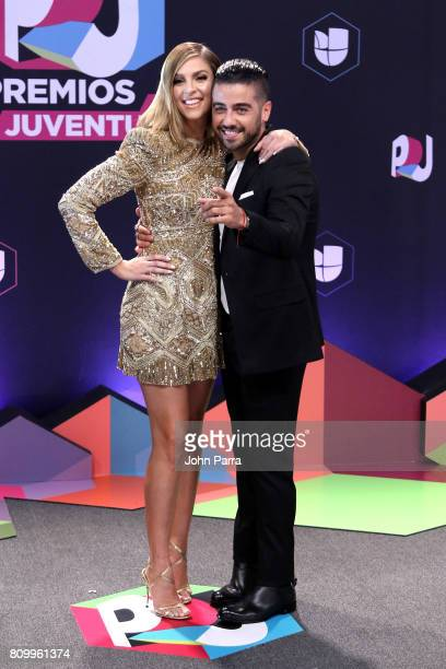 Daniela Di Giacomo and Borja Voces attend the Univision's Premios Juventud 2017 Celebrates The Hottest Musical Artists And Young Latinos ChangeMakers...