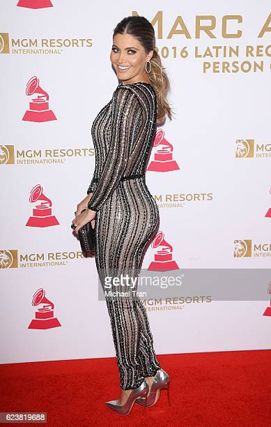 Daniela di Giacomo arrives at the 2016 Latin GRAMMY Person of The Year honoring Marc Anthony held at MGM Grand Garden Arena on November 16 2016 in...