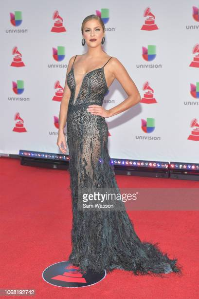 Daniela di Giacomo attends the 19th annual Latin GRAMMY Awards at MGM Grand Garden Arena on November 15 2018 in Las Vegas Nevada