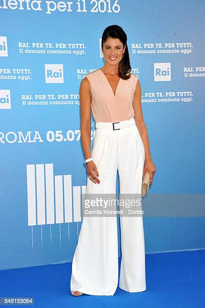 Daniela Ferolla at the Rai Show Schedule on July 5 2016 in Rome Italy