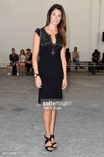 Daniela Ferolla attends Frankie Morello show during Milan Menswear Fashion Week Spring Summer 2015 on June 24 2014 in Milan Italy