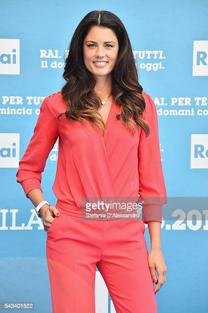Daniela Ferolla attends Rai Show Schedule Presentation In Milan on June 28 2016 in Milan Italy
