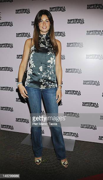 Daniela Ferolla attends Superdolls collectables cocktail party on May 25 2012 in Milan Italy