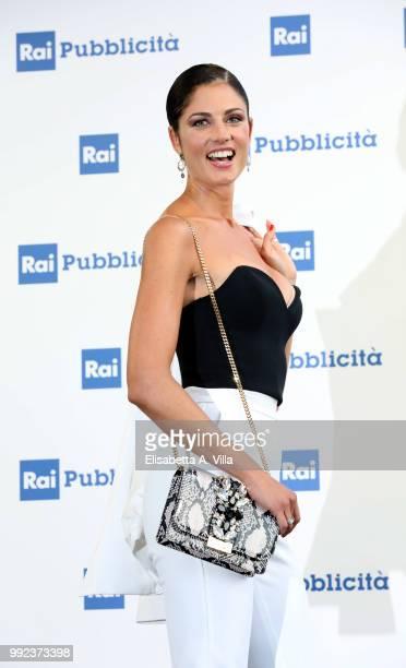 Daniela Ferolla attends the Rai Show Schedule presentation on July 5 2018 in Rome Italy