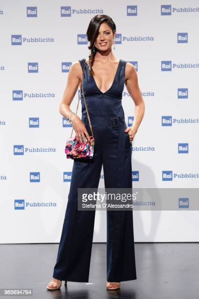 Daniela Ferolla attends the Rai Show Schedule presentation on June 27 2018 in Milan Italy