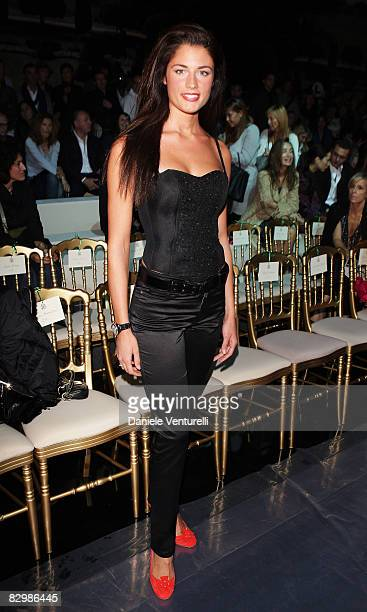 Daniela Ferolla attends the Roberto Cavalli fashion show at Milan Fashion Week Spring/Summer 2009 on September 24 2008 in Milan Italy