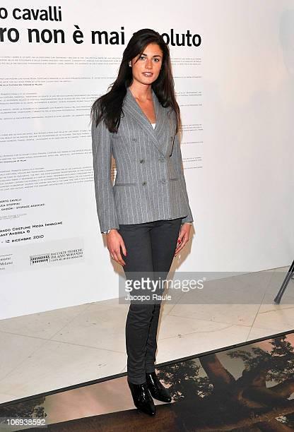 Daniela Ferolla attends the Roberto Cavalli Il Nero Non E' Mai Assoluto Opening Exhibition on November 17 2010 in Milan Italy