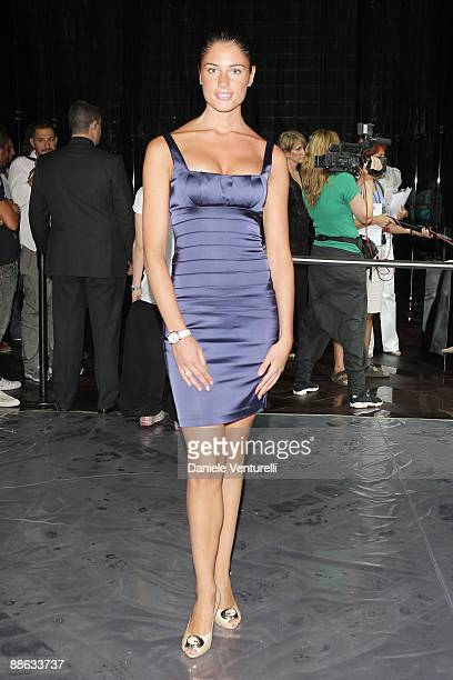 Daniela Ferolla attends the Roberto Cavalli show as part of Milan Menswear Fashion Week Spring/Summer 2010 on June 22 2009 in Milan Italy