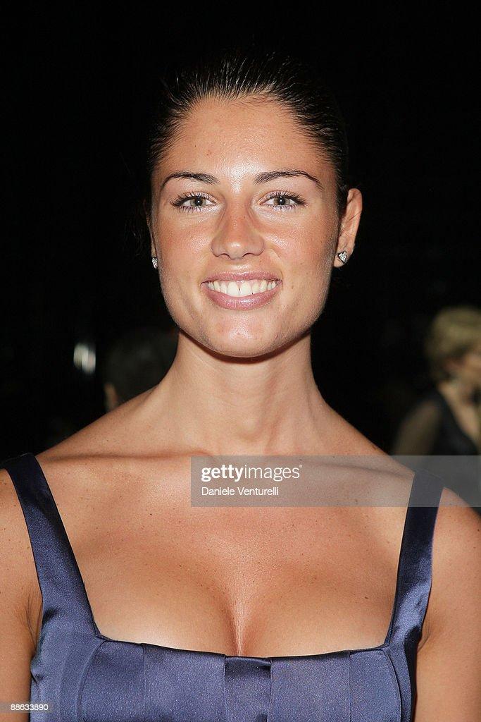 Daniela Ferolla attends the Roberto Cavalli show as part ...