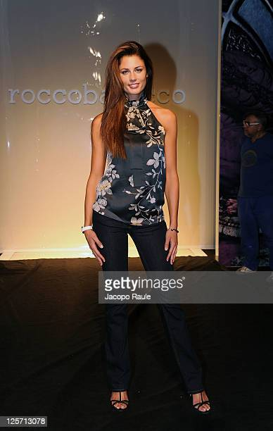 Daniela Ferolla attends the Roccobarocco Spring/Summer 2012 fashion show as part Milan Womenswear Fashion Week on September 21 2011 in Milan Italy