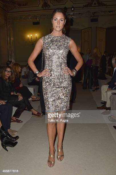 Daniela Ferolla attends the Simonetta Ravizza show during the Milan Fashion Week Womenswear Spring/Summer 2015 on September 21 2014 in Milan Italy
