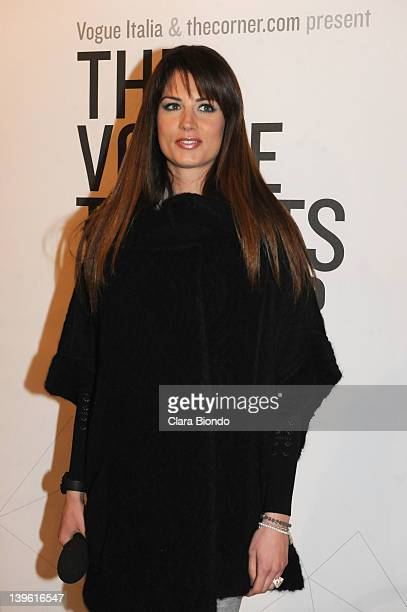 Daniela Ferolla attends The Vogue Talents Corner during Milan Womenswear Fashion Week on February 23 2012 in Milan Italy