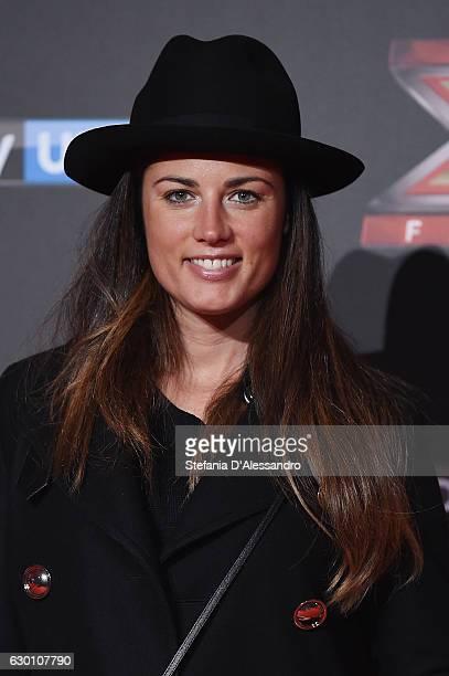 Daniela Ferolla attends 'X Factor X' Tv Show Red Carpet on December 15 2016 in Milan Italy