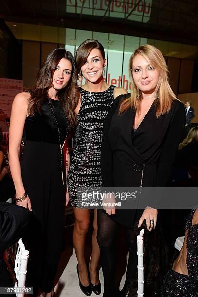 Daniela Ferolla Cristina Chiabotto and Manila Nazzaro attend the Gala Telethon 2013 Roma during The 8th Rome Film Festival on November 13 2013 in...