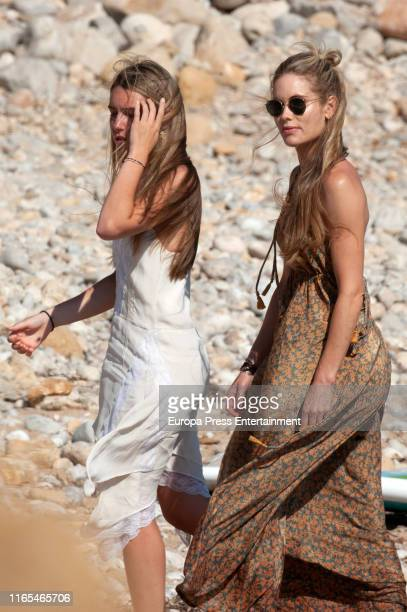 Daniela Figo and Helen Svedin are seen on July 16 2019 in Ibiza Spain
