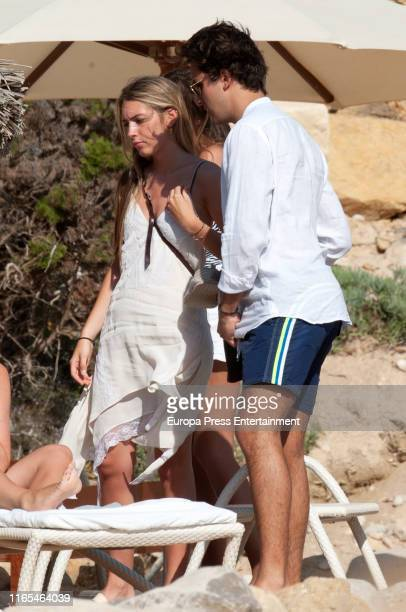 Daniela Figo Swedin and Jacobo Duran are seen on July 16 2019 in Ibiza Spain
