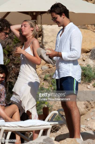 Daniela Figo Swedin and Jacobo Duran are seen on July 16 2019 in Ibiza Spain