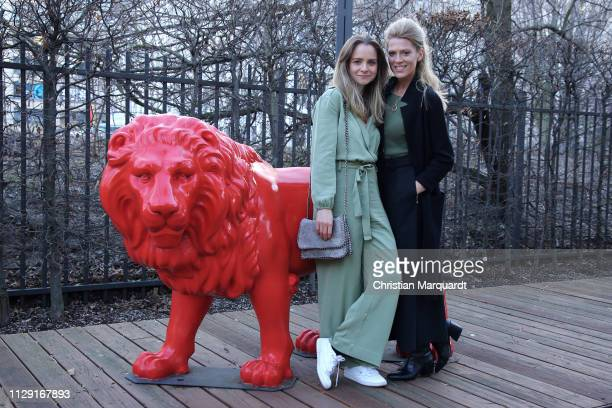 Daniela Galbo and Nele Kiper attend the Hessian reception during the 69th Berlinale International Film Festival on February 12, 2019 in Berlin,...