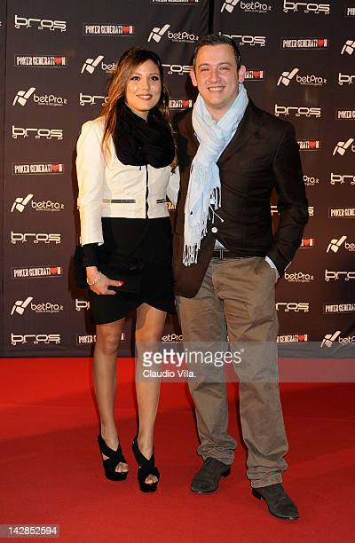 Daniela Garau and Filippo Candio attends the Milan premiere of 'Poker Generation' at Bicocca Village on April 13 2012 in Milan Italy