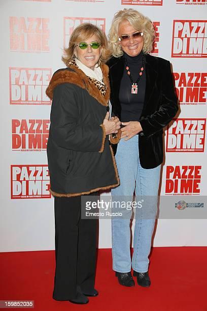 Daniela Goggi and Loretta Goggi attend the 'Pazze di Me' premiere at Teatro Sistina on January 21 2013 in Rome Italy