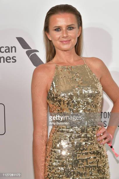 Daniela Hantuchová attends the 27th annual Elton John AIDS Foundation Academy Awards Viewing Party celebrating EJAF and the 91st Academy Awards on...