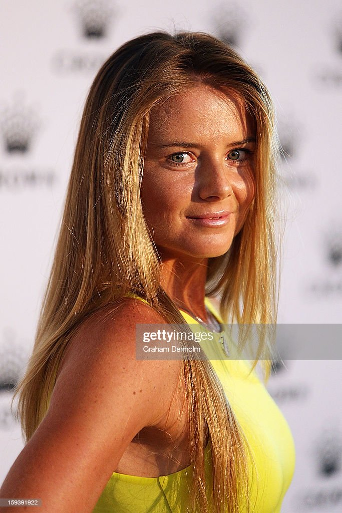 Daniela Hantuchova arrives at Crown's IMG Tennis Player's Party at Crown Towers on January 13, 2013 in Melbourne, Australia.