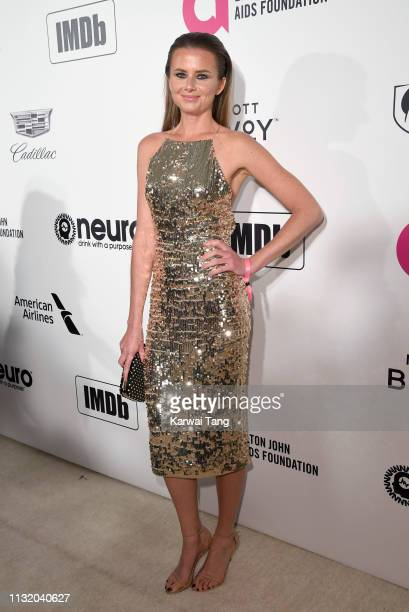 Daniela Hantuchova attends the 27th annual Elton John AIDS Foundation Academy Awards Viewing Party Celebrating EJAF And The 91st Academy Awards on...