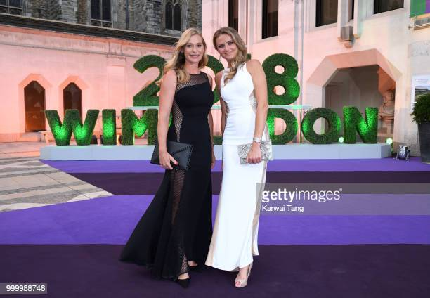Daniela Hantuchova attends the Wimbledon Champions Dinner at The Guildhall on July 15, 2018 in London, England.