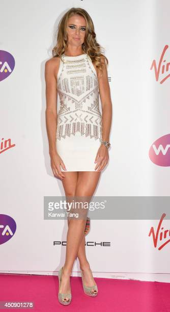 Daniela Hantuchova attends the WTA PreWimbledon party at Kensington Roof Gardens on June 19 2014 in London England