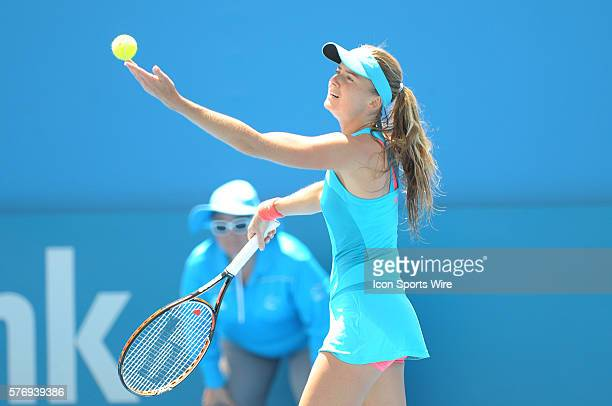 Daniela Hantuchova during her first round win against Roberta Vinci at the Apia International Sydney. Sydney Olympic Park Australia. January 09, 2012.