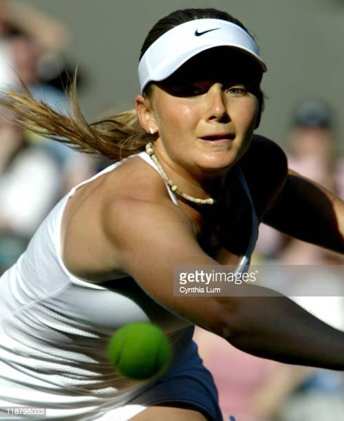 Daniela Hantuchova ends her Wimbledon stay with a 36 16 loss to Maria Sharapova