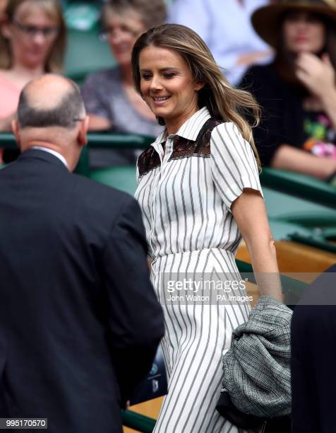 Daniela Hantuchova in the royal box on centre court on day eight of the Wimbledon Championships at the All England Lawn Tennis and Croquet Club...