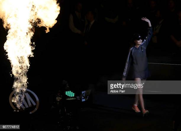 Daniela Hantuchova of Slovakia enters the court prior to competing in the Tie Break Tens at Madison Square Garden on March 5 2018 in New York City