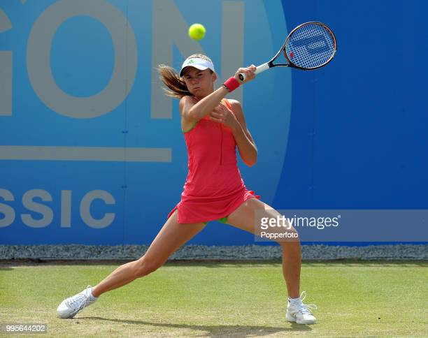 Daniela Hantuchova of Slovakia in action during day 5 of the AEGON Classic at the Edgbaston Priory Club in Birmingham on June 10 2011