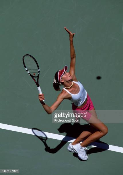 Daniela Hantuchova of Slovakia in action during the Australian Open Tennis Championships at Melbourne Park in Melbourne Australia circa January 2003