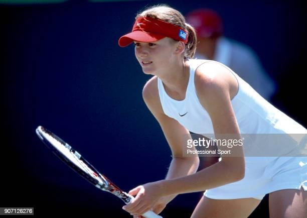Daniela Hantuchova of Slovakia the NASDAQ100 Open Tennis Tournament at the Tennis Center at Crandon Park in Key Biscayne Florida circa March 2002
